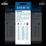 Батарея клетки кнопки AG2 1.5V алкалическая