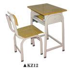 Conjunto de madera del vector de la escuela y de los muebles de la silla