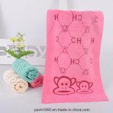 La toalla impresa de Microfiber embroma la toalla