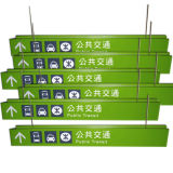 Poteaux de signalisation directionnels personnalisés de Signages d'éclairage LED acrylique en aluminium