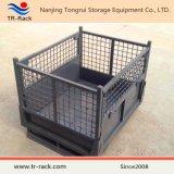Gaiola de malha dobrável de aço pesado para armazenamento de armazém