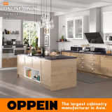 StandaardKeukenkast van pvc van Oppein de Moderne met Eiland (OP17-PVC04)