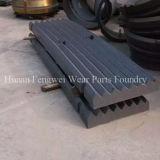 Gussteil zerteilt Kiefer-Platte für Kiefer-Zerkleinerungsmaschine-hohe Mangan-Kiefer-Platte