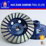 Meule diamant de meule de cuvette de Huazuan 100 millimètre Turbo