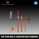Apoyo de acero ajustable del apuntalamiento del soporte del encofrado del bloque de cemento