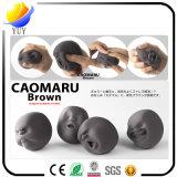 Esfera Anti-Stress do respiradouro de Caomaru da esfera do rosto humano de borracha macio