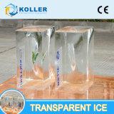 氷の切り分けることのための水晶および透過ブロックの製氷機