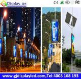 Visualización de LED colgante de poste del tráfico