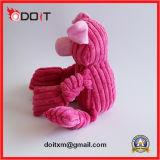 Rosafarbenes Schwein-Streifen-Samt-Gewebe-Hundespielzeug