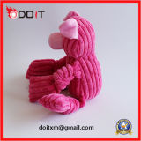 Розовая игрушка собаки ткани бархата прокладки свиньи