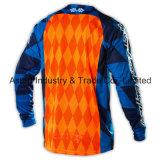 O OEM azul fêz o Motorcycling Jersey do Sublimation do poliéster (MAT31)