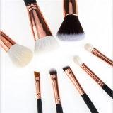 el cepillo determinado del maquillaje de la marca de fábrica de los cosméticos del profesional de los cepillos del maquillaje 8PCS/Kits filetea el cepillo de la fundación con el bolso