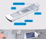 調節可能な太陽電池パネルが付いている最も新しい統合された太陽LEDの街灯