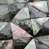 Telha preta do mosaico do triângulo do escudo do espanador do bordo