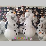 広告のための熱い販売の雪の人のオラフのマスコットの衣裳