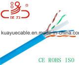 CAT6A, Utpcable, solide, 500MHz, câble de /Computer/câble de caractéristiques/câble de transmission/câble/connecteur sonores
