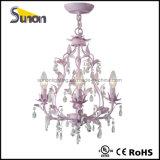 Lampadari a bracci floreali grigi dell'a cristallo di illuminazione del lampadario a bracci del ferro saldato