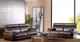 Sofá casero de madera de la sala de estar de cuero del sofá (UL-NS064)
