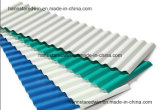 Het beste Met een laag bedekte Plastiek van de Grootte Kleur plooide het Hittebestendige Blad van het pvc- Dakwerk