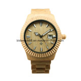 A qualidade 3ATM Waterproof o relógio de pulso de madeira do bordo para homens