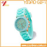 Custom Logo Relógio de borracha de silicone macio de alta qualidade (YB-HR-92)