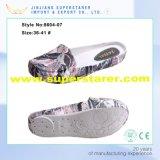 Ботинки верхних женщин тапочки ленивого конца повелительниц Binding напечатанные ЕВА плоские вскользь