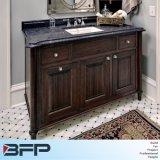 Gabinete de banheiro de pintura espelhado dissipador da madeira contínua da vaidade do gabinete