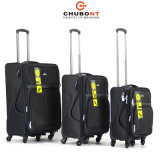 Chubont Five Wheels Double Zipper Tsa Lock Conjunto de bagagens 4PCS