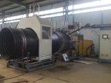 Línea acanalada espiral estirador de enrrollamiento reforzado acero de la protuberancia del tubo del HDPE del tubo
