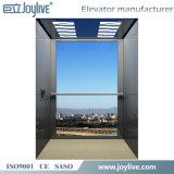 2-5 personas vidrio y precio del elevador del chalet del hogar del acero inoxidable del espejo