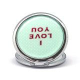 Mini specchio rotondo alla moda Cm-1231 della casella del metallo