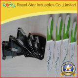 A faca de cozinha do aço inoxidável da fonte 6PCS da fábrica ajustou-se com suporte acrílico (RYST0117C)