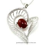 قلب شكل مدلّاة مجوهرات مع [3ا] [كز] بيضاء ([ب4971ر])