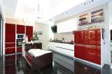 ラッカー終わりの台所食器棚が付いている優雅の高品質のベニヤ
