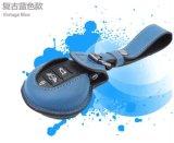 아주 새로운 가죽 물자 소형 술장수 F56 F55만을%s 키에 의하여 보호되는 파란 소형 광선 작풍 차 키 부대 (1 PCS/set)