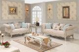 Neoclássico Sofa Set com moldura prata Madeira