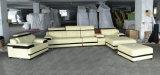 Qualité L sofa de cuir véritable de forme pour les meubles à la maison (957)