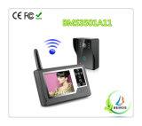 Téléphone de porte vidéo sans fil couleur de 3,5 po avec système d'interphone de sécurité