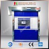 La carretilla elevadora de alta velocidad del obturador rápido rueda para arriba la puerta rápida del rodillo de la tela (Hz-FC0360)