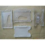 Titular de tarjeta de encargo de la identificación del PVC de la manera, sostenedor plástico de las tarjetas de visita