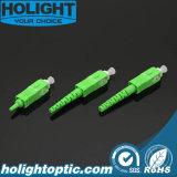 Verde óptico del Sc APC del kit del conector de fibra