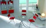 Mesa de jantar de vidro e mesa de jantar e conjunto Furniturn cadeira