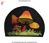 Emblema colorido bordado 2016 formas do logotipo do cogumelo (YH-EB137)