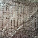 Синтетическая кожа PU крокодила для бумажников Hx-B1737 мешков