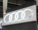 Muestra de acrílico de encargo ligera del coche 3D del LED