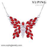 43898の方法ロジウムによってめっきされるジルコニアの贅沢な蝶ネックレス
