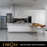 台所家具のアメリカの固体チェリーの花こう岩のカウンタートップTivo-0052Vが付いている木製の食器棚