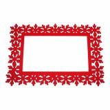 Gesäumtes Polyester Placemat für Tischplatte und Dekorationen