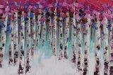 Peinture à l'huile abstraite de reproduction pour l'arbre