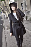 Шинель повелительниц конструирует пальто женщины ткани пальто шанца втулки Glengarry длиннее